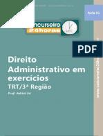 Reta Final Trt Mg 120 Questoes Direito Administrativo Aj Aj Aula INAUGURAL
