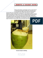 Nutritional benefits of Coconut Water (Tender Coconut)