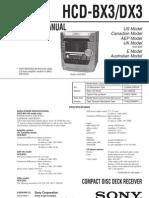 Sony Hcd Bx3 Dx3