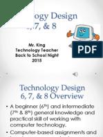 technology 678 - back to school night - fall 2015