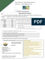 Avaliação de Matemática 3ª Série (2)