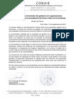 Conaie Rechaza Intromisión Del Gobierno en Organizaciones Amazónicas y Ratifica La Presidencia de Franco Viteri en La Confeniae
