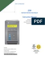 Relé de Protección Motor Multilín 239 Manual (Tamrock)