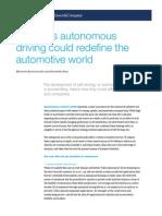 Ten Ways Autonomous Driving Could Redefine the Automotive World