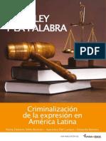 La ley y la palabra, criminalización de la expresión en América Latina