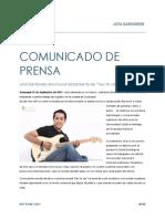 Comunicado de Prensa Jota Santander Septiembre 2015
