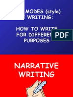modes of writing pp