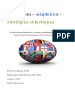 Sarah le Fevre Johansen - Traduction Adaptation Strategies Et Tactiques