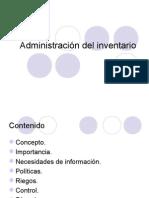 Administración Del Inventario
