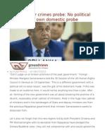 """""""Hybrid"""" War Crimes Probe No Political Will Even for Own Domestic Probe"""