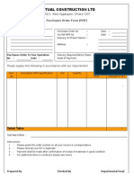 Purchase Order Formet