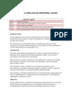 Protocolo Para Dolor Abdominal Agudo Actual