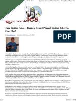 Jazz Guitar Solos - Barney Kessel Played Guitar Like No One Else!