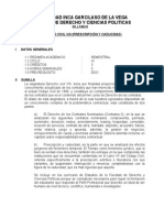 Derecho Civil Viii (Prescripción y Caducidad) silabus
