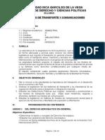 Derecho de Transportes y Comunicaciones silabus