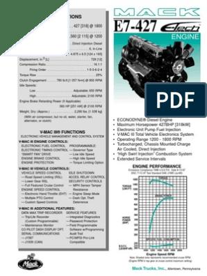 Motor E-TECH E7-427 Econodyne | Diesel Engine | Piston