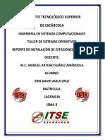 Reporte de Instalación de Estaciones de Trabajo-ERIK DAVID AVILA CRUZ-IsMA-3