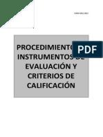 Procedimientos e Instrumentos Generales 2012