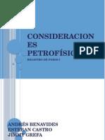 Consideraciones Petrofísicas