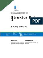 Struktur Baja 1 - Batang Tarik 1