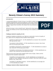 Citizens Survey Summary 2015