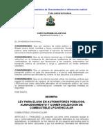 Ley Para Uso de LPG en Autos (Actualizada-07)