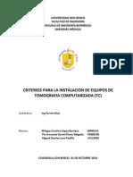 CRITERIOS DISEÑO DE UNA SALA DE TOMOGRAFIA