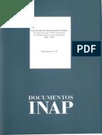 Documentos Inap, Nº 15una Década de Administración Pública