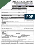 UAP Transfer Form