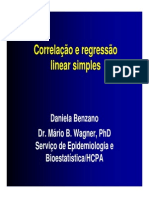 Correlação e Regressão Linear - Estatística