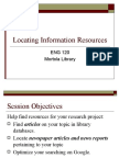 Locating Information Resources