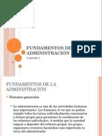 Cap. I - Fundamentos de La Administración