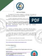 Nota de Prensa Acampada 6 y 7 Marzo