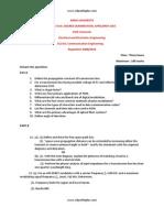 EC2311 Communication Engineering