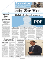 The Daily Tar Heel for Sept. 18, 2015