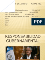 Responabilidad gubernamental