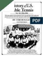History of U.S. Table Tennis - Vol. XI