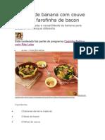 Nhoque de Banana Com Couve Rústica e Farofinha de Bacon