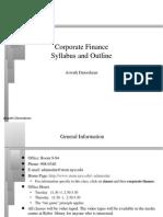SYLABUS Corporate Finance