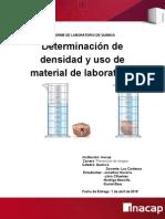 Determinación de Densidad y Uso de Material de Laboratorio