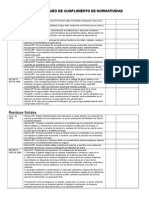 Lista de Chqueo de Cumplimiento de Normatividad