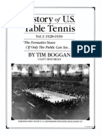 History of U.S. Table Tennis - Vol. I