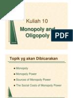 Lecture on Monopoli and Oligopoli