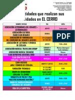 Otras entidades que realizan actividades en el Centro Cívico El Cerro de Coslada