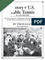 History U.S. Table Tennis - Vol. III