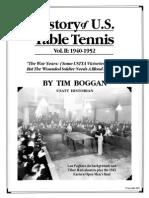 History of U.S. Table Tennis - Vol. II