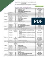 IntermediateCourse2014 Timetable 20150218 Website