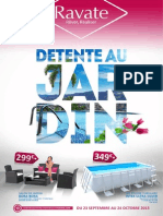 "Catalogue Ravate ""Detente au Jardin"" du 23 septembre au 24 octobre 2015"