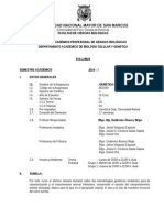 2014-1 Genetica Animal, Prof. Guillermo Alvarez Plan 2003