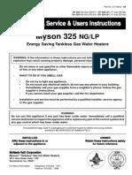 Myson 325 Tankless manual